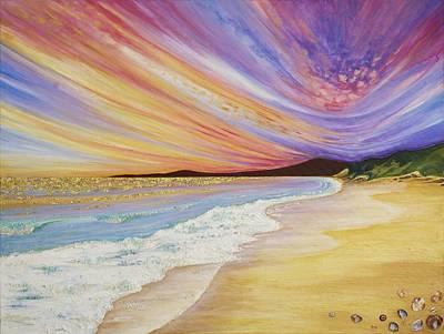 Blazing Sunset Original by Claire Johnson