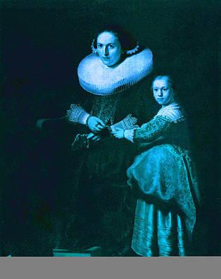 Portrait Digital Art - Blend I Rembrandt by David Bridburg