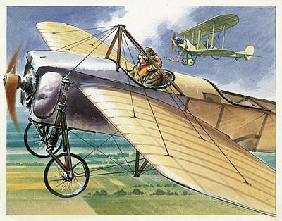 Jet Drawing - Bleriot Xi Monoplane by Wilf Hardy