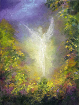 Mystical Painting - Blessing Angel by Marina Petro
