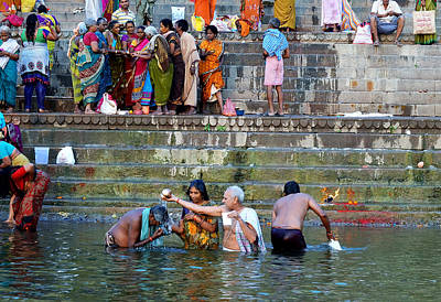 Cremation Ghat Photograph - Blessings by John And Laurel Rodgers