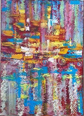 ''bleu,red And Yellow 2'' Print by Asia Dzhibirova