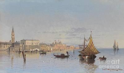 Venedig Painting - Blick Auf Venedig by Celestial Images