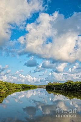 Blind Pass Bowman Beach Sanibel Florida Print by Edward Fielding