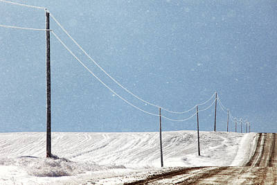 Winter Roads Photograph - Blizzard Blue by Todd Klassy