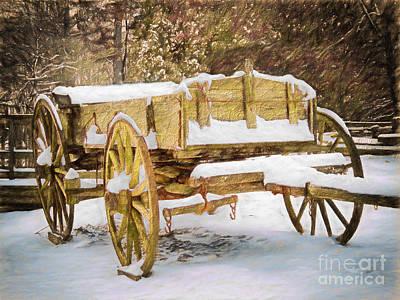 Mabry Painting - Blizzard Bound II by Dan Carmichael