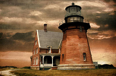 Atlantic Digital Art - Block Island Southeast Light by Lourry Legarde