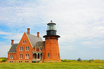 New England Lighthouse Painting - Block Island Southeast Lighthouse Artwork by Lourry Legarde