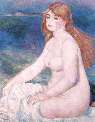 Auburn Painting - Blonde Bather II by Renoir