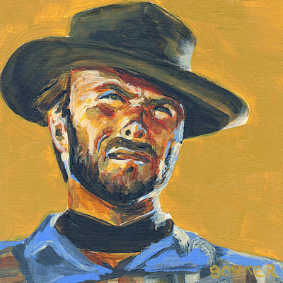 Cowboy Painting - Blondie      The Good The Bad And The Ugly by Buffalo Bonker
