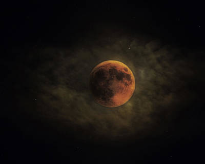 Photograph - Blood Moon by Ron  McGinnis