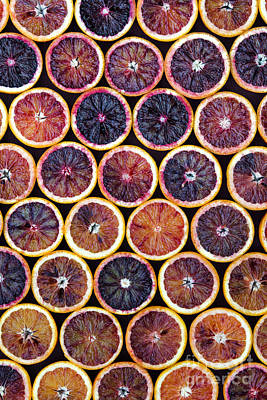 Red Fruit Photograph - Blood Oranges Pattern by Tim Gainey
