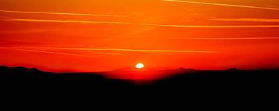 Blood Red Sunset Print by Az Jackson