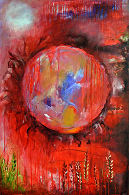 Save The Earth Painting - Blood Shed by Upasana Kedia