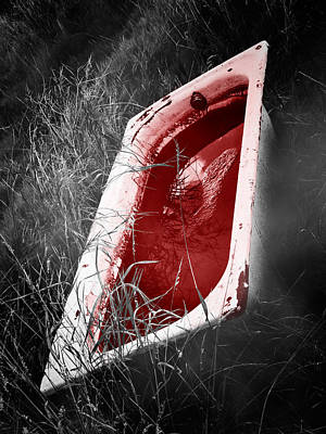 Creepy Photograph - Bloody Bathtub by Wim Lanclus