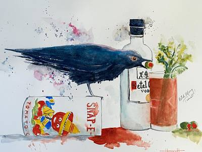 Bloody Mary Painting - Bloody Ketel Time by Bob Hannah