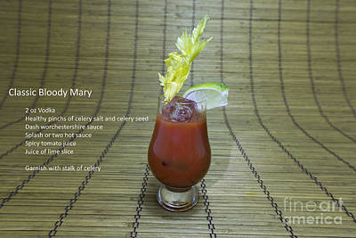 Bloody Mary Photograph - Bloody Mary, Bloody Caesar, Tomato Juice by Karen Foley