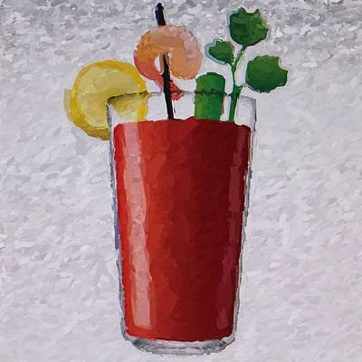 Bloody Mary Photograph - Bloody Mary Emoji by  Judy Bernier