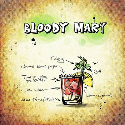 Liquor Mixed Media - Bloody Mary by Movie Poster Prints