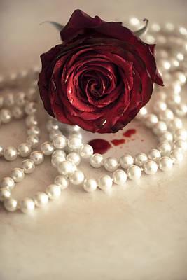 Necklace Photograph - Bloody Rose by Joanna Jankowska