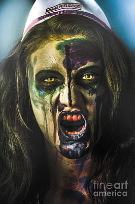 Bloody Zombie Nurse Screaming Out In Insanity Print by Jorgo Photography - Wall Art Gallery