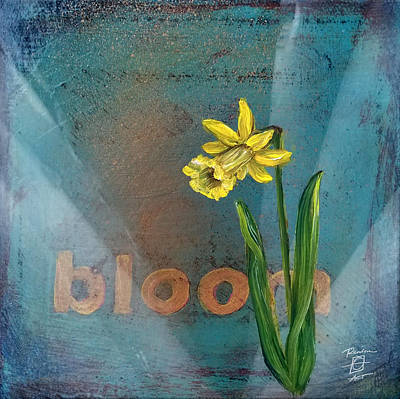 Painting - Bloom Daffodil by Andrea LaHue