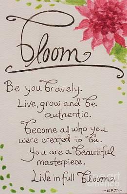 Bloom Print by Elizabeth Robinette Tyndall