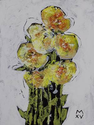 Outsider Art Painting - Bloom No. 2  by Mark M  Mellon