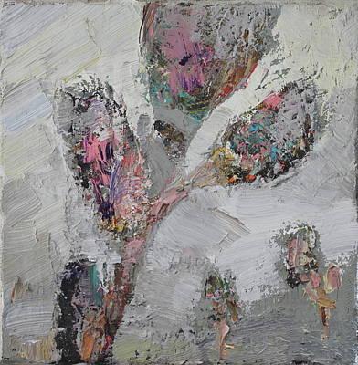 Brunch Painting - Blossom Brunch In The Mist by Aleksey Khrapko