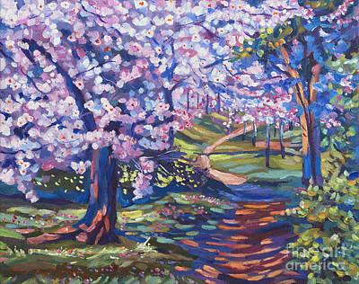 Blossom Season - Plein Air Print by David Lloyd Glover
