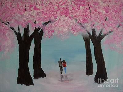 Blossoming Romance Print by Leslie Allen
