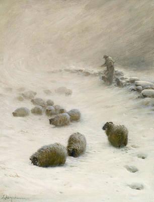 Joseph Farquharson Painting - Blow Blow Thou Wintery Wind by Joseph Farquharson