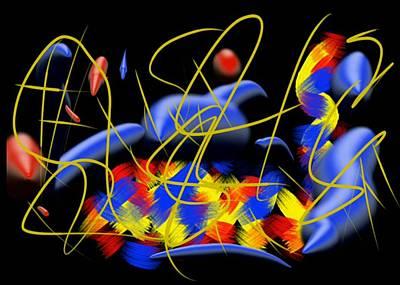 Abstract Digital Drawing - Blown by Paulo Guimaraes