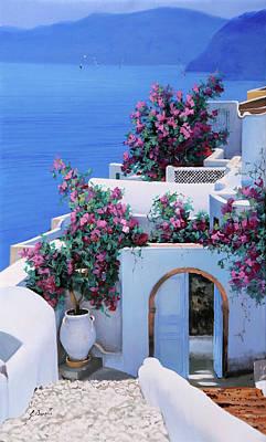 White House Painting - Blu Di Grecia by Guido Borelli