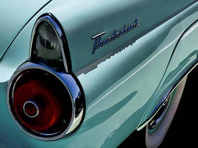 1955 Digital Art - Blue 1955 T-bird by Douglas Pittman