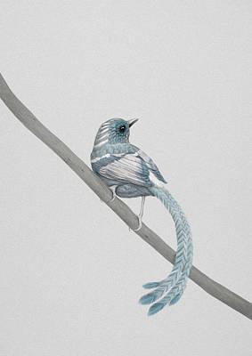Blue 2 Print by Diego Fernandez