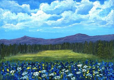 Blue Afternoon Print by Anastasiya Malakhova