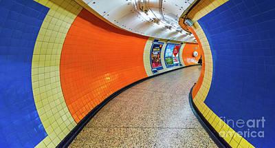 Ceramic Mixed Media - Blue And Orange Tunnel by Svetlana Sewell