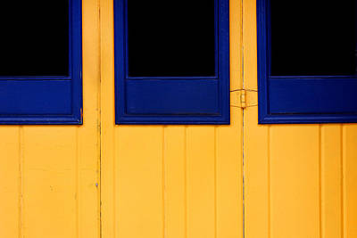 San Diego Artist Photograph - Blue And Yellow by Art Block Collections