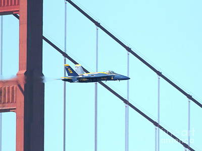 Blue Angels Crossing The Golden Gate Bridge 4 Print by Wingsdomain Art and Photography