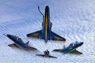Airplane Photograph - Blue Angels V.2 by Tim Stanley