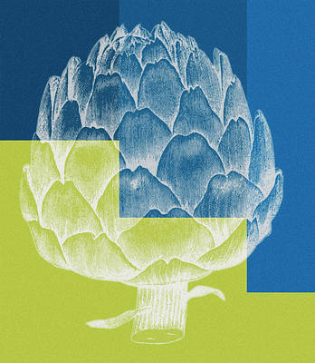 Summery Painting - Blue Artichoke by Frank Tschakert