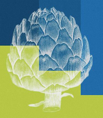 Artichoke Painting - Blue Artichoke by Frank Tschakert