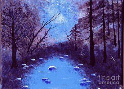 Blue Autumn Print by Ketti Peeva