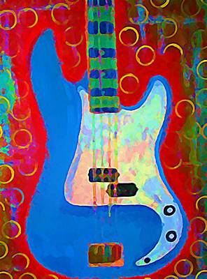 Rollingstone Painting - Blue Bass by Gregory McLaughlin