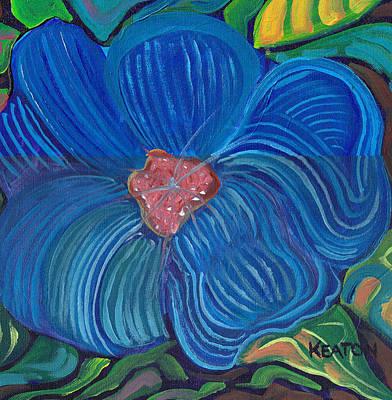 Painting - Blue Blilliance by John Keaton
