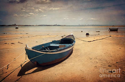 Water Vessels Photograph - Blue Boat by Carlos Caetano