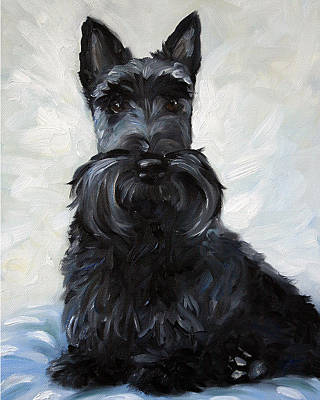 Scottish Dog Painting - Blue Boy by Mary Sparrow