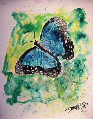 Animal Painting - Blue Butterfly by Derek Mccrea