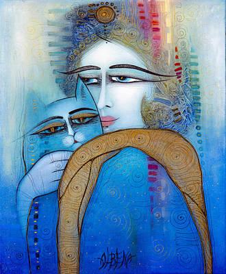 Painting - Blue Cat by Albena Vatcheva
